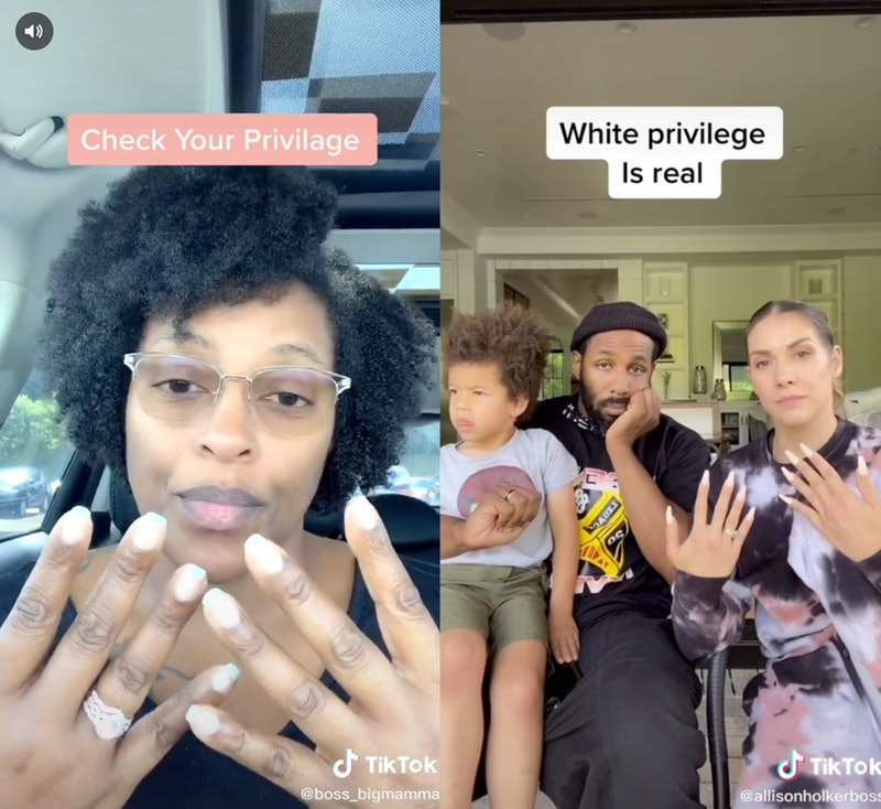 A new TikTok trend teaches white privilege in one minute.