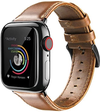 BRG Compatible With Apple Watch Leather Band
