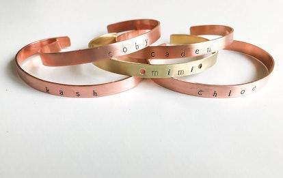 The Pink Locket Personalizable Skinny Cuff Bracelet