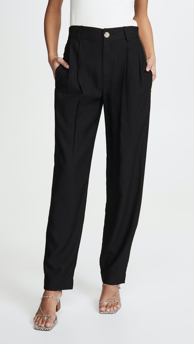 Pleat Front Tapered Trousers