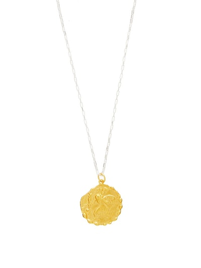 St Christopher 24kt Gold-Plated Necklace