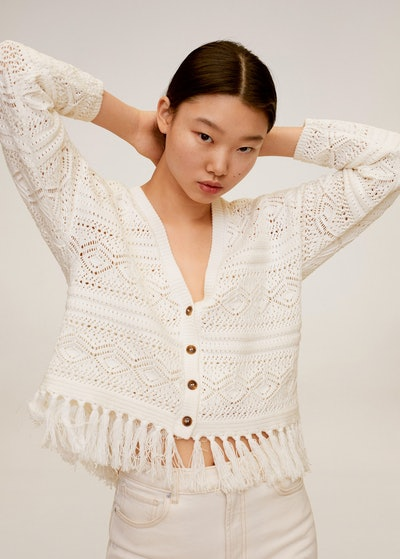 Cotton Crochet Cardigan
