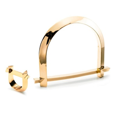 Arc Bangle And Ring 18k Gold Plated #powerofthepair Set