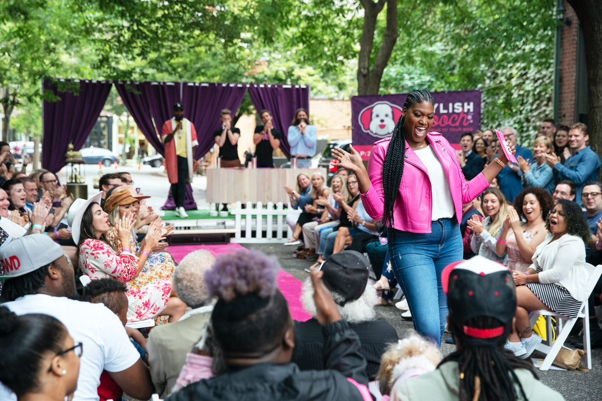 Rahanna at her Stylish Pooch fashion show on 'Queer Eye'