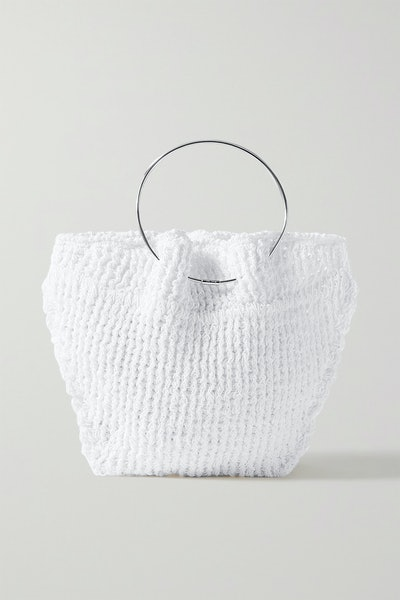 Flat Circle Crocheted Cotton Tote