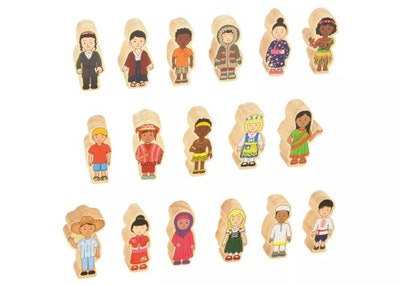 Kaplan Early Learning Children Around the World Wooden Figures