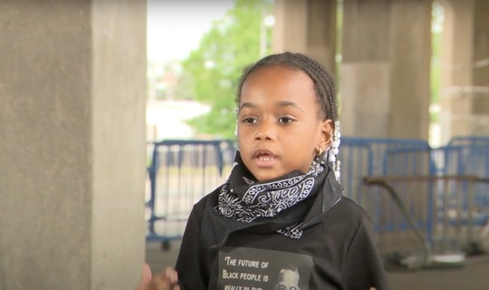 A little girl has gone viral at the Black Lives Matter protests.