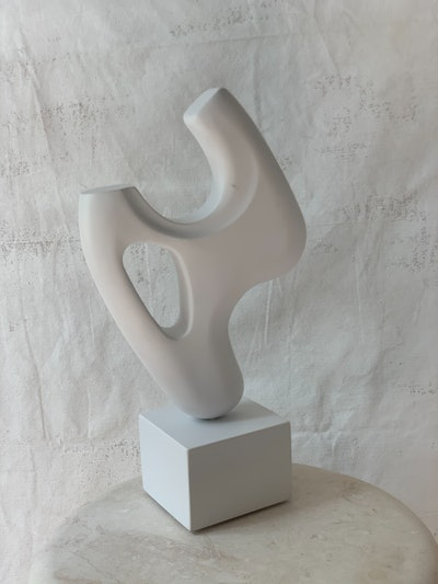 White Wooden Sculpture by Chandler Mclellan