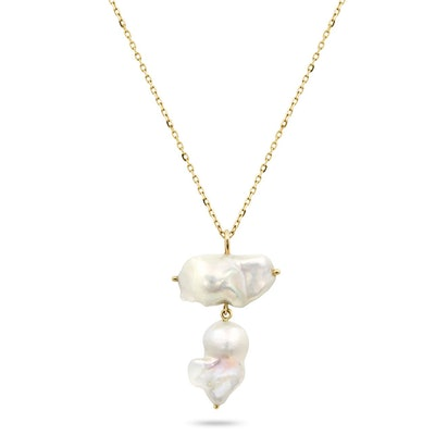 Double Baroque Pearl Necklace