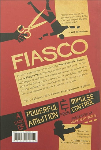 Fiasco Role Playing Game