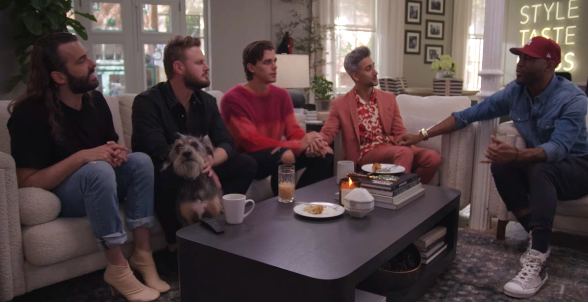 The 'Queer Eye' cast with Walter the dog