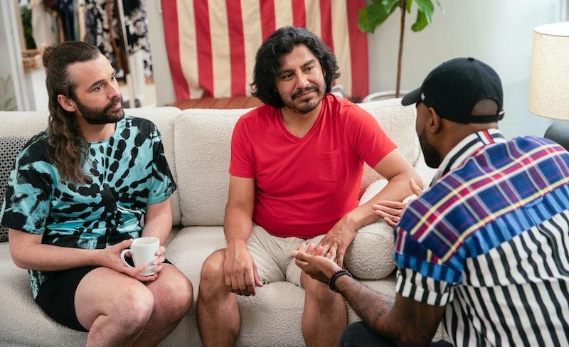 JONATHAN VAN NESS, MARCOS TIACOPILCO, and KARAMO BROWN in 'QUEER EYE' Season 5 from Netflix Media site