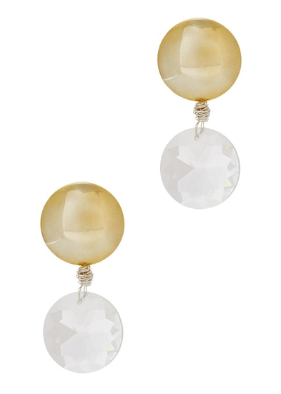 Gold-Plated Clip-On Earrings