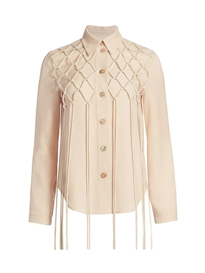 Otis Lattice Fringe Shirt
