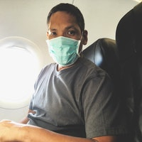 If you're concerned about germs on an airplane, there's good news