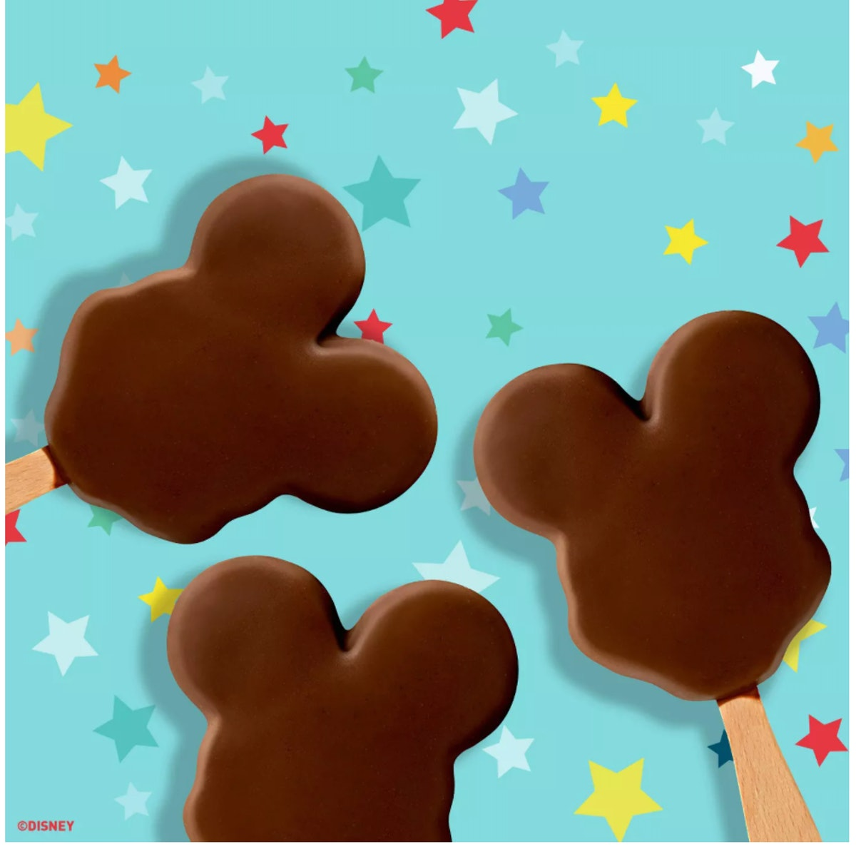 You can buy Disney-themed snacks online like these Mickey-shaped ice cream bars.
