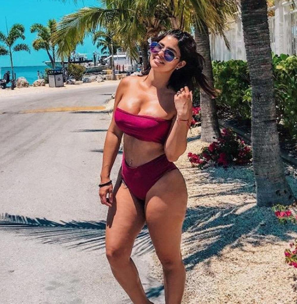 OMKAGI Women's 2-Piece Bandeau Bikini Swimsuit