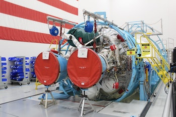 An American RD-180, prepping to carry a Boeing CST-100 Starliner into space.