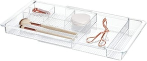 iDesign Clarity Plastic Expandable Drawer Organizer