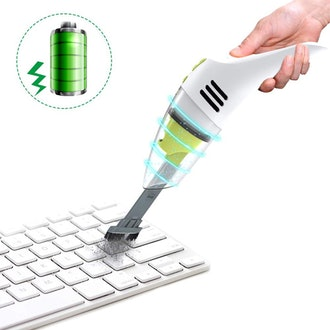 MECO Rechargeable Wet / Dry Cordless Desk and Keyboard Vacuum Cleaner