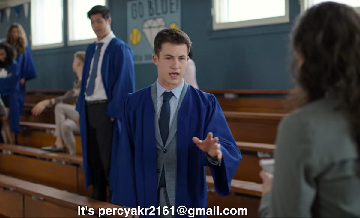 Clay gives out his email address in the series finale of '13 Reasons Why.'