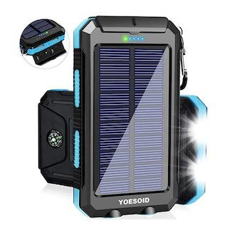 YOESOID Waterproof Solar Power Bank