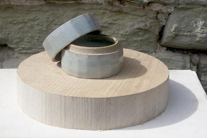 Cut-Sided Celadon Box