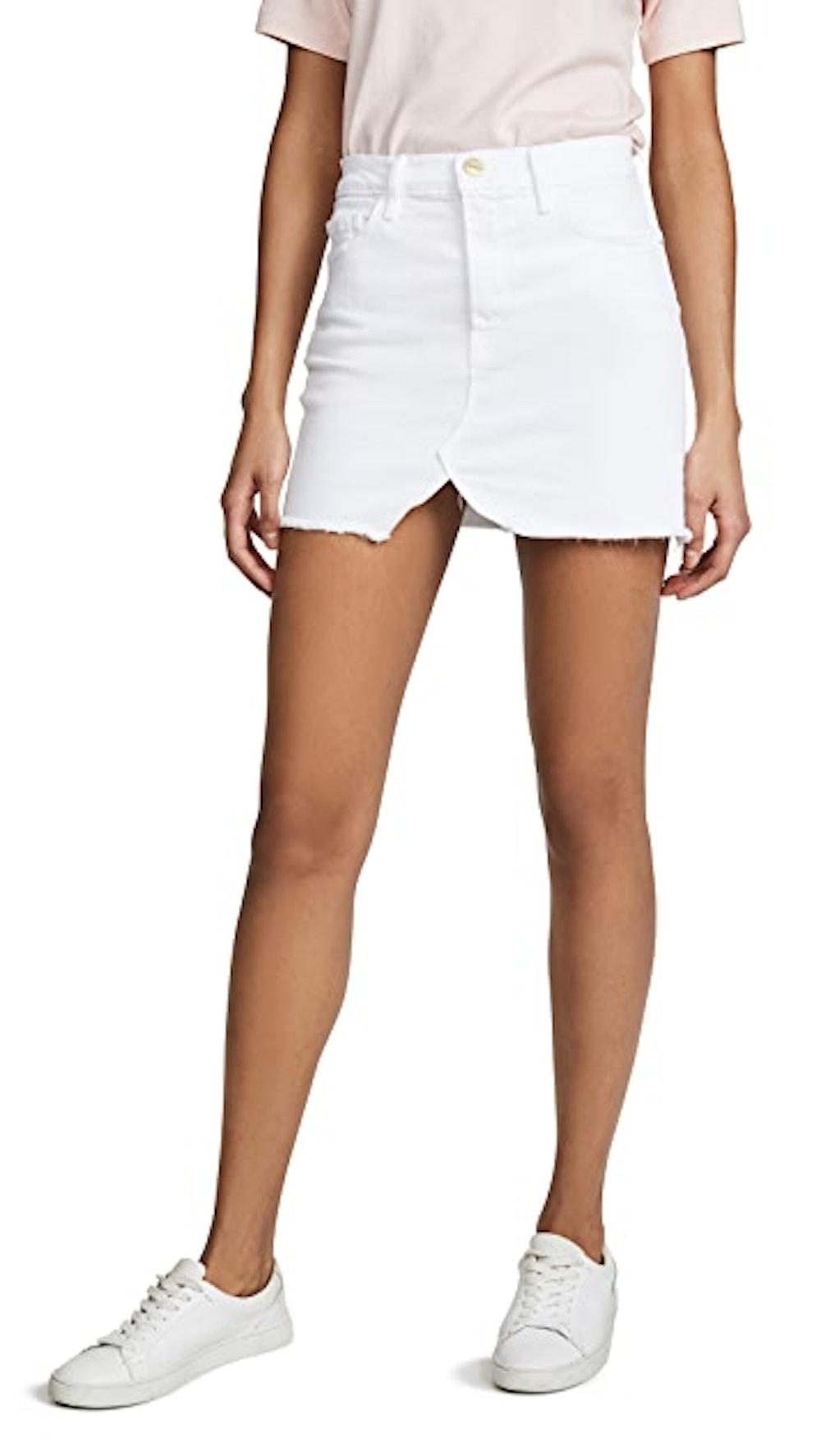 Le Slit Front Miniskirt