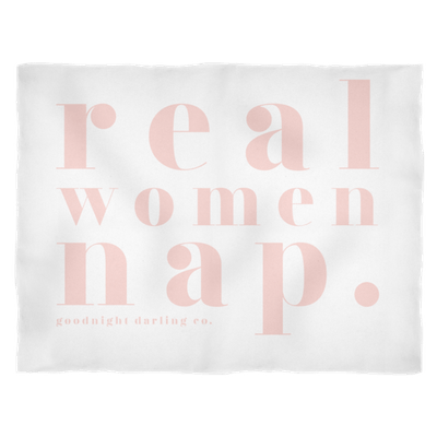 Real Women Nap Fleece Blanket