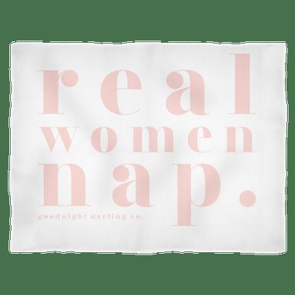 Real Women Nap Fleece Blanket