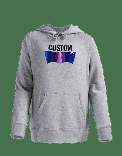 Women's Customizable Blank Fleece Hoodie