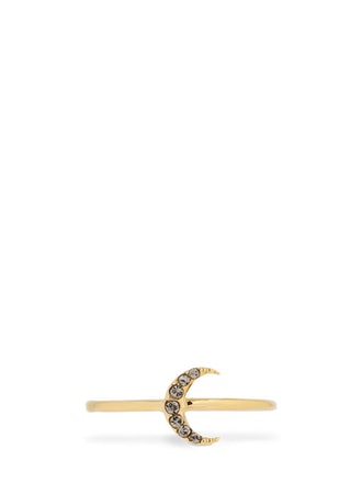 Slim Full Moon Crystal Ring