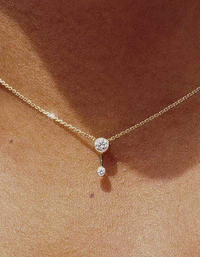 Duo Diamond Necklace
