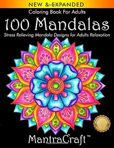 Coloring Book For Adults: 100 Mandalas