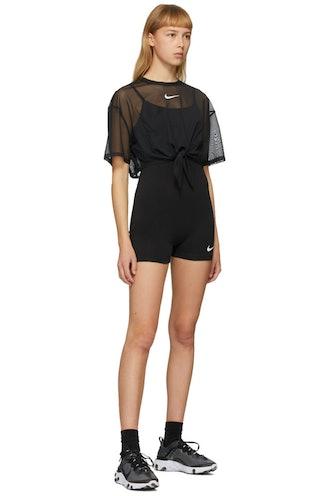 Black Sportswear Bodysuit