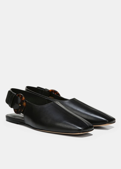 Leather Cadot Buckle Shoe