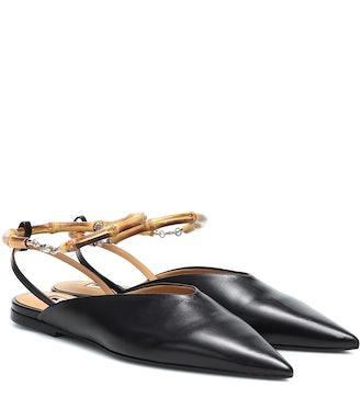 Slingback Leather Ballet Flats