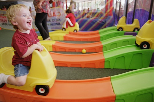 Boy on a rollercoaster at a daycare