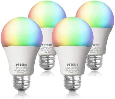 Peteme Smart LED Light Bulbs (4-Pack)