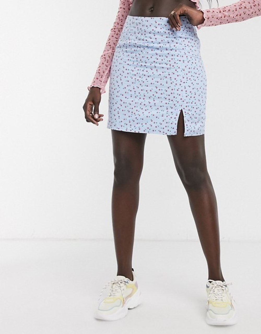 Mini Skirt In Ditsy Floral