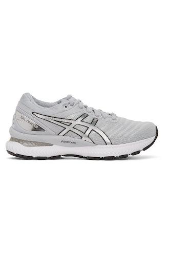Grey & Silver GEL-Nimbus 22 Platinum Sneakers