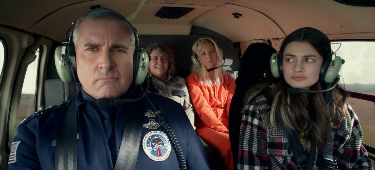 Mark, Erin, Maggie, and Lousie in 'Space Force'