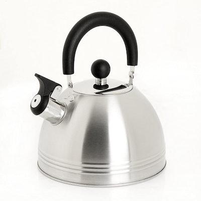 Mr. Coffee Carterton Stainless Steel Whistling Tea Kettle (1.5 Quarts)