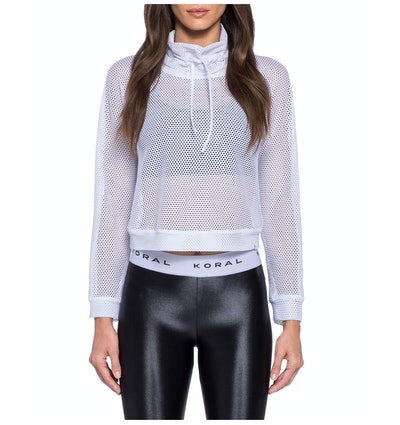 Open Mesh Cropped Pullover