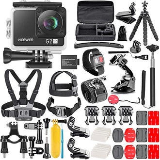 Neewer G2 4K WiFi Sports Action Camera And 50-In-1 Accessories Kit