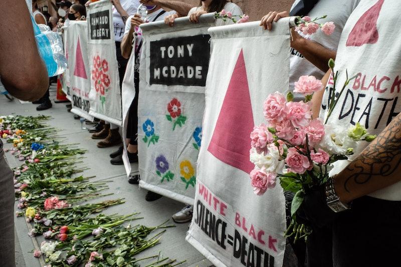 A vigil at the Stonewall Inn for Black Lives Matter