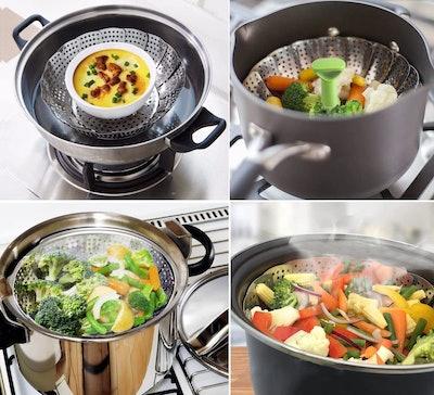 Consevisen Stainless Steel Vegetable Steamer Basket