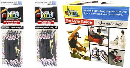 U-Lace No-Tie Laces (2-Pack)