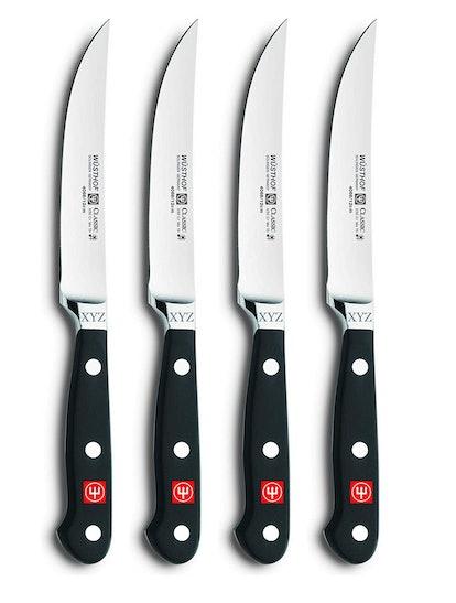 Wüsthof Engraved Steak Knife Set (4 Pieces)