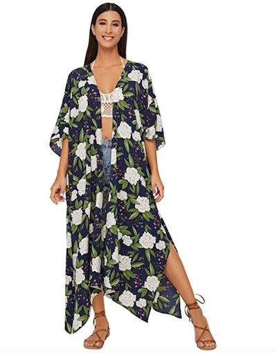 SweatyRocks Women's Flowy Kimono Cardigan